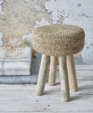 Natural Hand-Crafted Stool