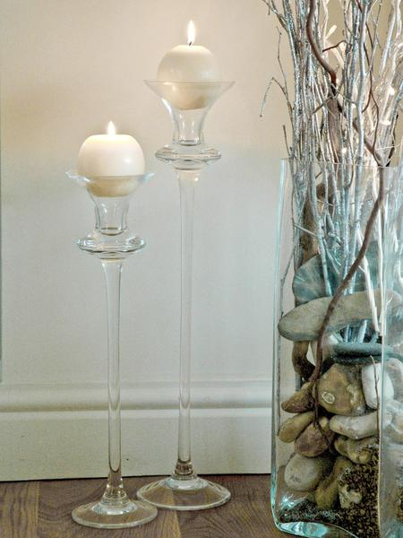 Floor candle holders glass for Floor candle holders