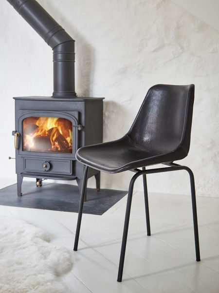 Leather Dining Chair Black Leather Dining Chair Scandi