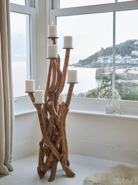 Floor Standing Driftwood Candelabra Large Candle Holders