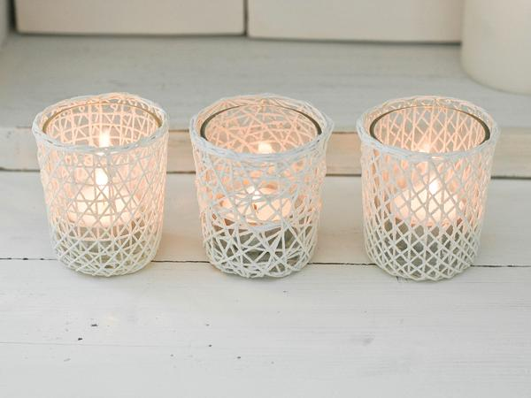 Nautical Glass Tealight Holders Nordic House