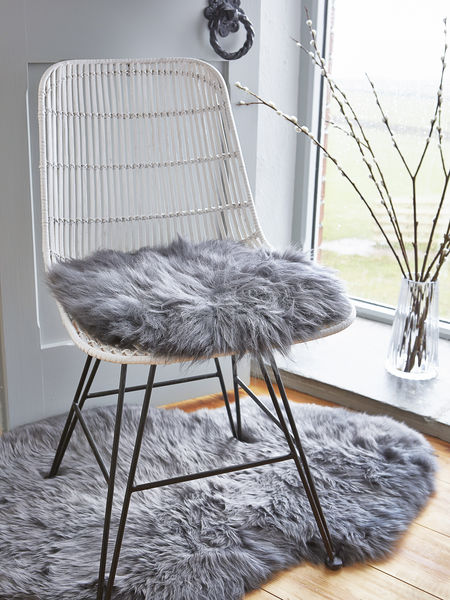 Luxurious Sheepskin Seat Cover Grey