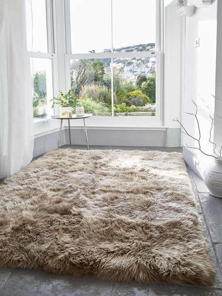 Luxurious Xl Sheepskin Rug Caramel