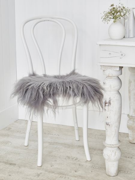 Icelandic Sheepskin Seat Cover Soft Grey