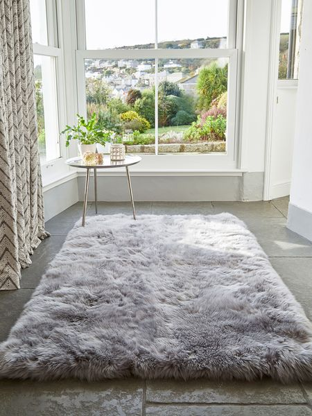 Large Grey Sheepskin Rug Large Sheepskin Rug Nordic House