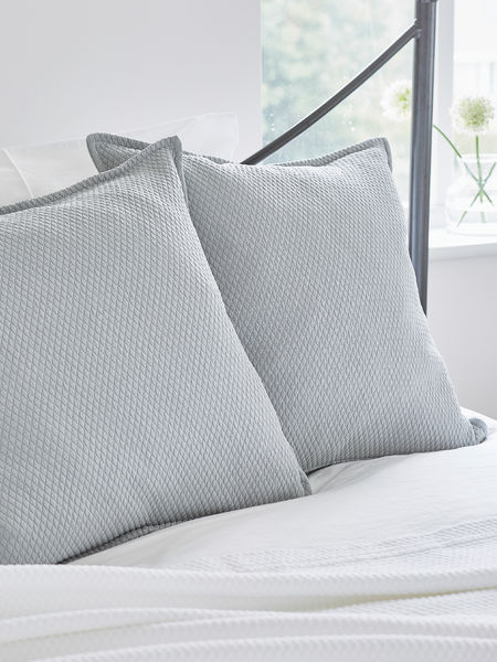 Quilted Cushion Soft Grey
