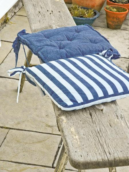 Nautical Stripe Seat Cushions