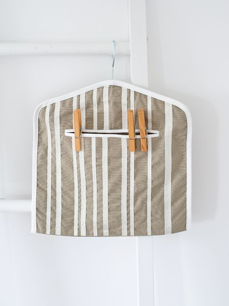 Ribbon Striped Peg Bag