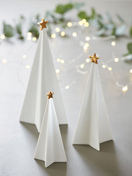 White Porcelain Tree Set