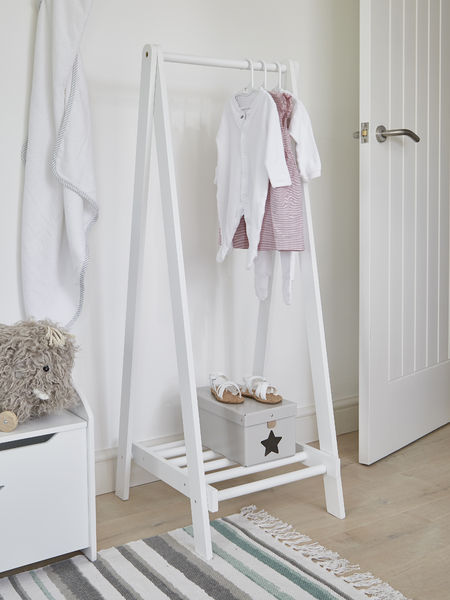 White Wooden Clothes Rail Wooden Clothes Rail Clothes Rack