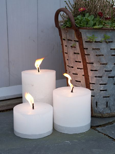 large candles garden candles outdoor candles