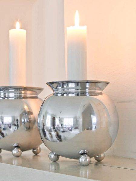 Round Aluminium Candle Holder