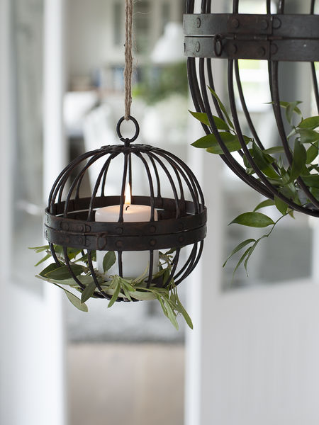Rusty Cage Lantern Tealight Hurricane Nordic House