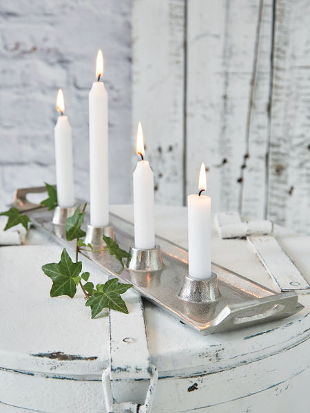 Cast Aluminium Candle Holder Tray