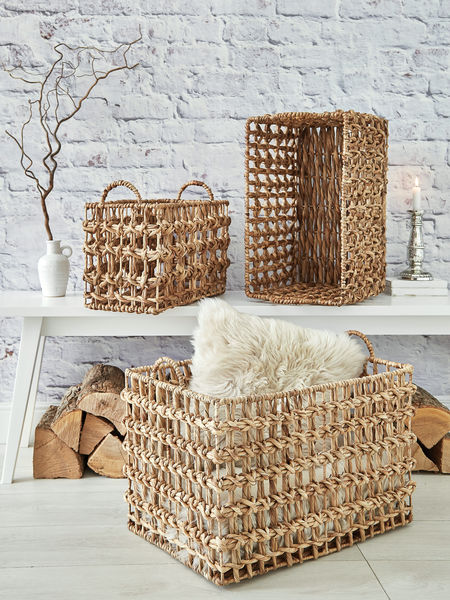 Water Hyacinth Basket Set Water Hyacinth Baskets Nordic House