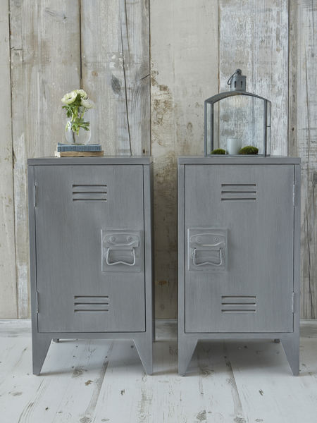 Industrial Bedside Cabinets Grey Nordic House
