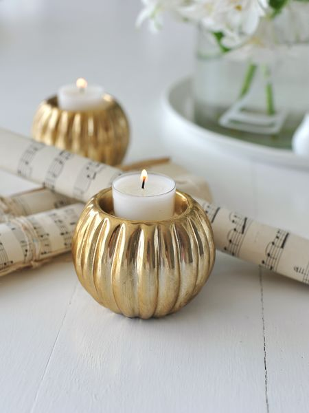 Soft Gold Tealight Holder Gold Ceramic Tealight Holder