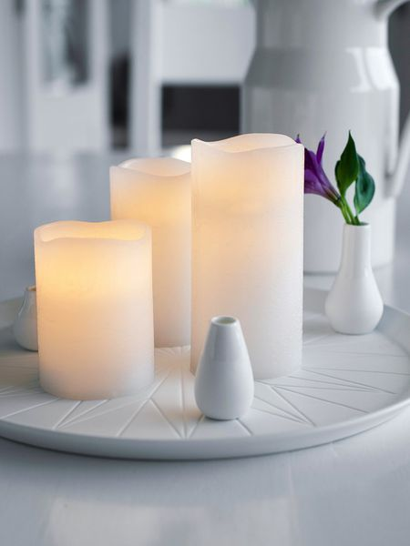 White Wax Led Candle Nordic House
