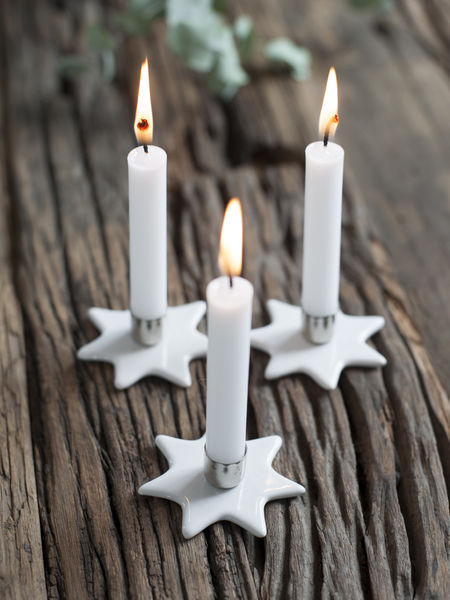 Mini Star Candle Holders Set 6