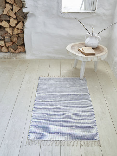 Striped Cotton Rug 60x90cm