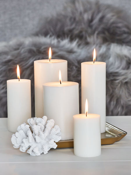 Pillar candles nordic house for Candele on line