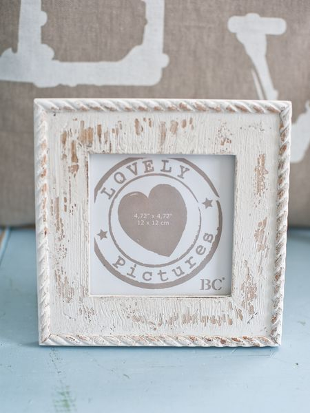 White Distressed Picture Frame