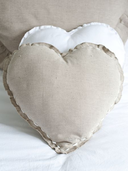 Stitch Detail Heart Cushion