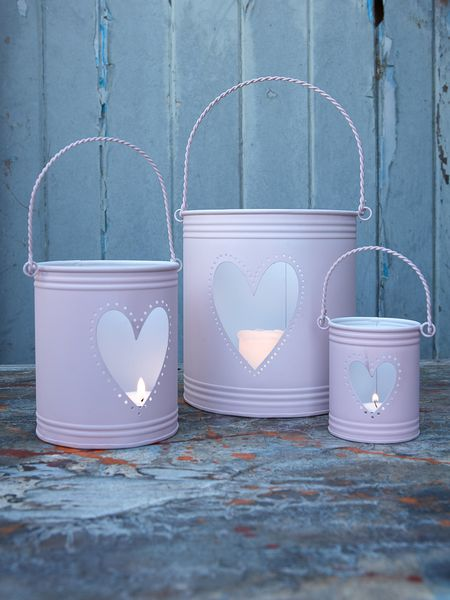 Pink Hurricane Lanterns