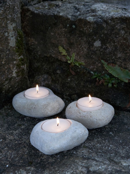 Pebble Tealight Holders
