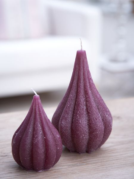 Deep Purple Onion Candles