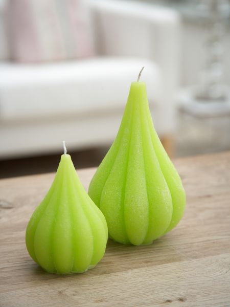 Lime Green Onion Candles