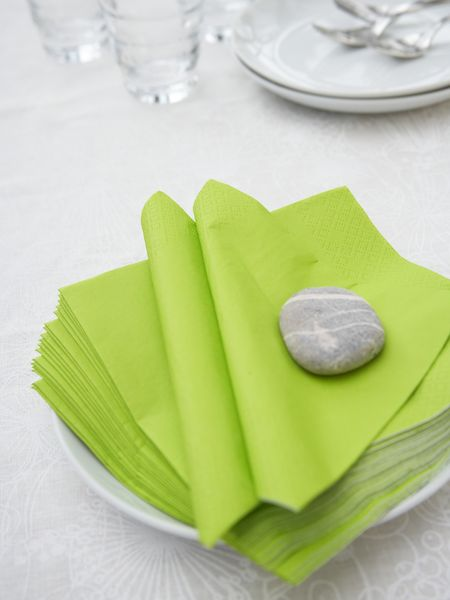 Lime Green Paper Napkins Nordic House