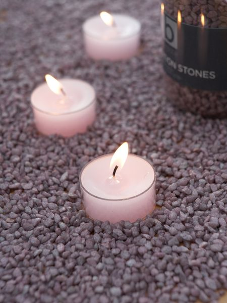 Dusty Lavender Candle Gravel