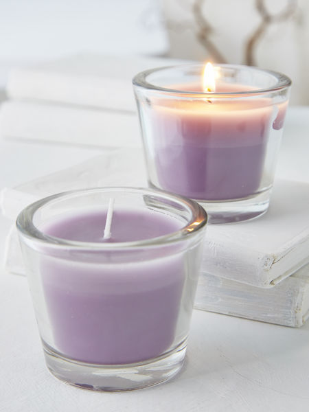 Dusty Lavender Glass Candle Votive