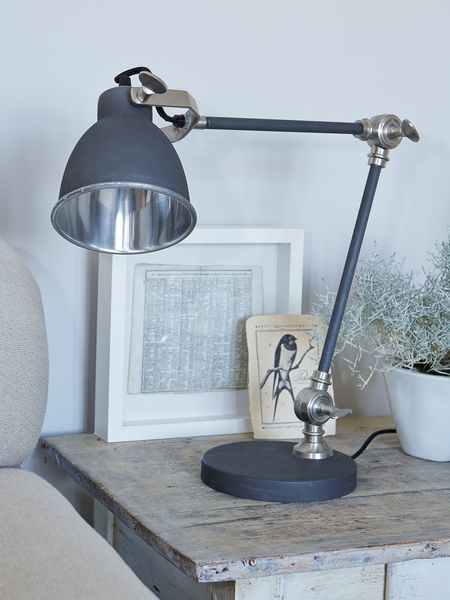Metal Desk Lamp Matte Charcoal