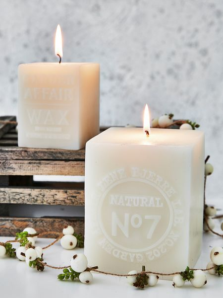 Square Embossed Candles Square Pillar Candles Nordic House