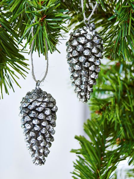 Long Pine Cone Tree Ornament Christmas Decorations From