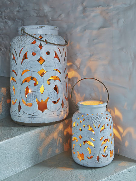 Antique White Lanterns White Ceramic Lanterns Nordic House