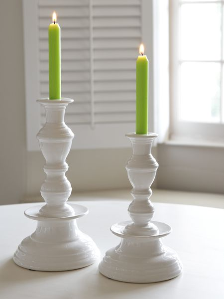 Stylish White Candle Holder