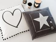 Star Cushion - Slate Grey