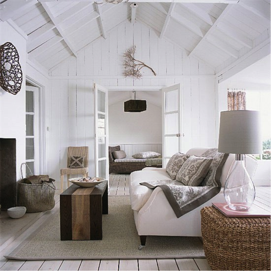 Gray And White Transitional Rustic Living Room With: Guest Post: Decorating With Soft Grey