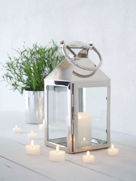 Stainless Steel Candle Lantern Indoor Lanterns