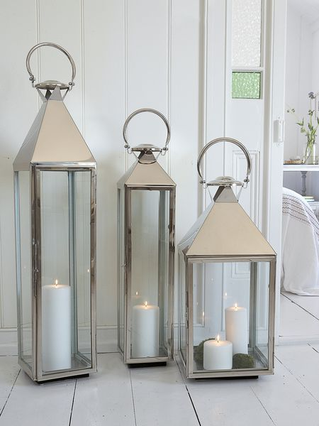 big stainless steel lanterns - nordic house