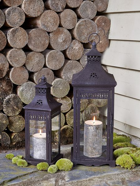 vintage rusty lanterns - nordic house