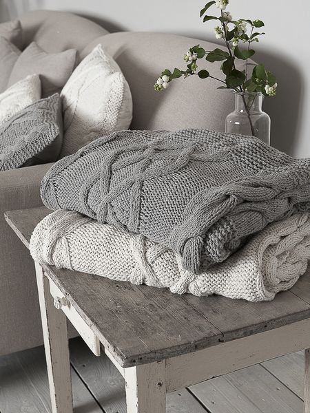 cable knit throw nordic house