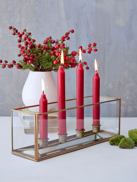 brass candle box - nordic house
