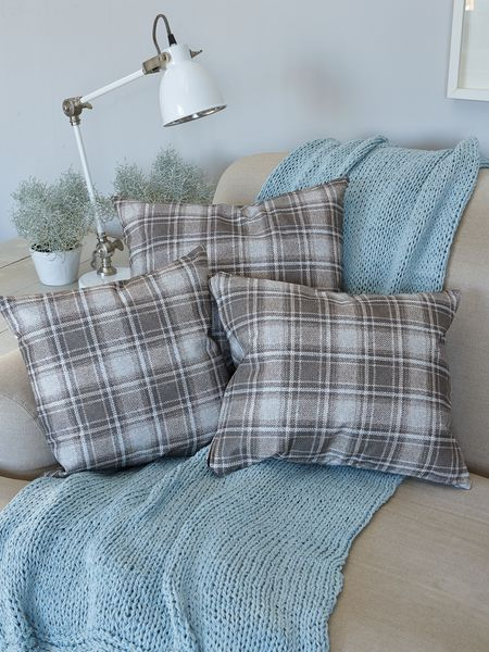 nordic plaid cushions - nordic house