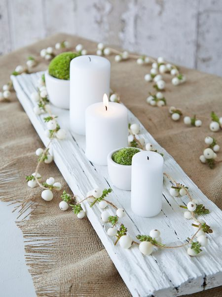 faux snowberry garland - nordic house