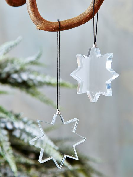 glass star tree ornament - nordic house