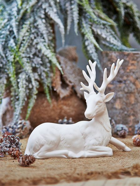 nordic white deer design - nordic house
